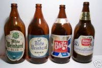 Old Quart Size Beer Bottles