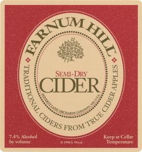 Farnum Hill Semi-Dry Label